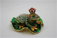 "Frog prince w/ jewels 2.5"" trinket. TRNK-4383"