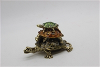 "3 Turtles on top of each other Trinket Box 3.5"" TRNK-4690"