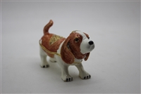 "Dog Basset hound Trinket Box 2"" TRNK-5041"
