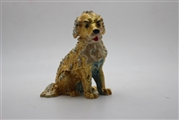 "Gold dog Trinket box 3.5"" TRNK-723"