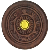 Wooden incense burners (circular vine design)
