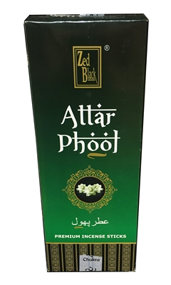 Zed Black - Attar Phoot Incense Sticks (Box of 6 packs of 20 sticks)