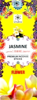 Chakra - Jasmine Incense Sticks (Box of 6 packs of 20 sticks)