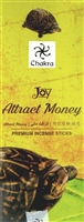 Chakra - Attract Money - Incense Sticks (Box of 6 packs of 20 sticks)