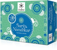Zed Black Chakra - Surya Namaskar - Natural Sticks - Pack of 6 Fragrances (6X2=12 Packs Inside)