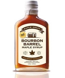 Bourbon Barrel Aged Maple Syrup ~ 8oz jar