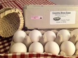 Eggs - 1 dozen, Jumbo White or Brown Eggs with many Double Yolks
