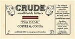 Crude Small-Batch Bitters, Big Bear (Coffee and Cocoa) - 4 oz