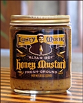spicy mustard, lusty monk, old style, coarse ground, artisan mustard, handmade, asheville, north carolina, home delivery, shipping, organic mustard, stone ground, original sin