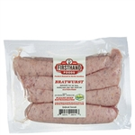 FHF Bratwurst Sausage, Cased Links ~ 1 lb