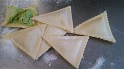 Melina's Fresh Pasta Ravioli, Pea and Mint  ~ 1lb