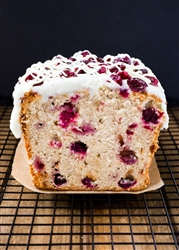 Cranberry White Chocolate Pound Cake ~ 1 loaf