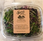 Holiday Mix Microgreens ~ 2oz compostable cup