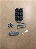TurboKool 2B-7000R Set of 6 Upper Motor Mount Bushings With Hardware.