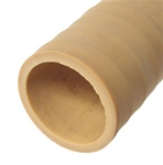 "Rubber Bladder Tubing, Certified for Air Shafts, 1.5"" ID, 1.75"" OD, 1/8"" Wall Thick, Tan"