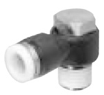 Push to Connect  Elbow Tube Fitting, for 5/32 Tube OD, No. 10-32 UNF Thread