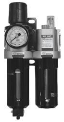 Filter Regulator Lubricator (FRL), Longer case for adapting high efficient auto drain valve