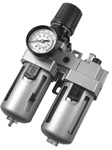 "Filter Regulator Lubricator (FRL), Standard Case - 1/2"" Port Size"
