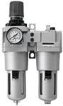 "Filter Regulator Lubricator (FRL) Standard Case - 3/4"" Port Size with Auto-Drain Valve"