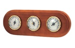 Wooden Frame Weather Station with Thermometer, Hygrometer and Barometer