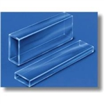 Borosilicate Rectangle Tubing 1 foot long, 2.00 x 4.00 mm ID, 0.30 mm Wall
