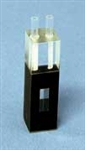 Quartz Cuvette - Path 10mm, 0.48ml, Beam Width 4x12 mm