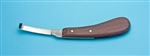 Hoof Knife,right side Wood handle,narrow blade