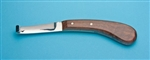 Hoof Knife,left side Wide blade,wood handle