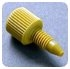 Coned Port Fittings - FITTING, , YELLOW, 10-32, 0.0625 in