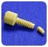 Coned Port Fittings - NUT,  NATURAL, 10-32, 0.0625 in