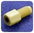 Coned Port Fittings - NUT,  NATURAL, 10-32