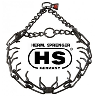 Herm Sprenger Pinch/Prong Collar 2.25 mm + 3 Extra Links (Black Stainless Steel)