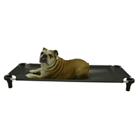 "4 Legs 4 Pets  22"" x 22"" x 5"" Small Premium Square Elevated Dog Bed Cot"