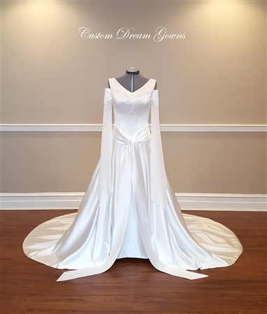 Medieval Wedding Dress | Elven Wedding Dress | Game of Thrones Wedding Dresses | Irish Wedding Dresses | Lord of the Rings Wedding Dress | Celtic Wedding Dress | Gothic Wedding Dress | Fantasy Wedding Dress | Sci Fi Wedding Dress