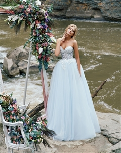 Azalea 17109 Custom Dream Gowns | Custom Wedding Dresses | A-Line Wedding Dresses | Colorful Wedding Dresses | Strapless Wedding Dresses | Sexy Wedding Dresses