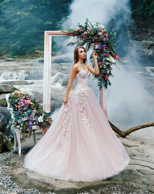 Blush Wedding Dress.Lotus