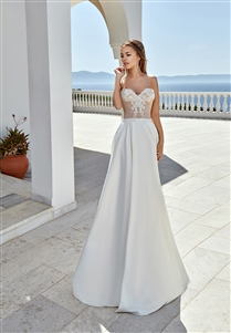 Style 1917 | Custom Dream Gowns | Custom Wedding Dresses | Nude Wedding Dresses | Beach Wedding Dresses | A-Line Wedding Dresses | Lace Wedding Dresses | Sweetheart Neckline Wedding Dresses | Feminine Wedding Dresses | 2019 Wedding Dresses | Corset Dress