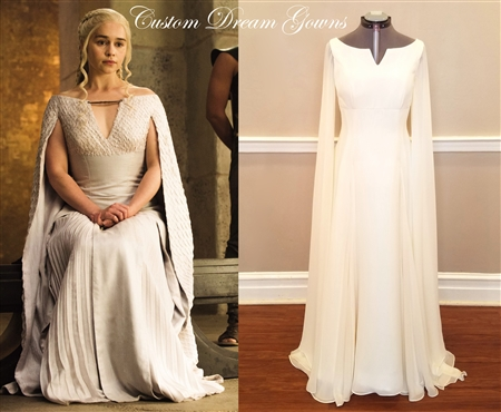 Daenerys Targaryen Game of Thrones Ivory Dress Replica | Game of Thrones Dress | Daenerys Replica Dress | Grecian Wedding Dress | Emilia Clarke Game of Thrones Dress | Elven Wedding Dress | Irish Wedding Dress | Cosplay Game of Thrones Dress