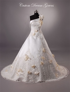 Karen By Custom Dream Gowns | Custom Wedding Dresses | Ball Gown Wedding Dresses | Floral Wedding Dresses | Romantic Wedding Dresses | Designer Wedding Dresses | One Shoulder Wedding Dresses | Beautiful Wedding Dresses | Timeless Wedding Dresses | Classic