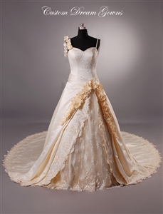 Alexandra By Custom Dream Gowns | Custom Wedding Dresses | Peach Wedding Dresses | Colorful Wedding Dresses | Ball Gown Wedding Dresses | Victorian Wedding Dress | One Shoulder Wedding Dresses | Beaded Wedding Dresses | Unique Wedding Dresses | Ball Gown