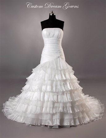 Debbie By Custom Dream Gowns | Custom Wedding Dresses | Unique Wedding Dresses | Mexican Wedding Dresses | Affordable Wedding Dresses | Strapless Wedding Dresses | Fit and Flare Wedding Dresses | Beautiful Wedding Dresses | Gothic Wedding Dresses