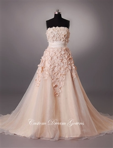 Daisy By Custom Dream Gowns | Custom Wedding Dresses | Floral Wedding Dresses | Strapless Wedding Dresses | A-Line Wedding Dresses | Ball Gown Wedding Dresses | Colorful Wedding Dresses | Blush Wedding Dresses | Black Wedding Dresses | Flower Ball Gowns