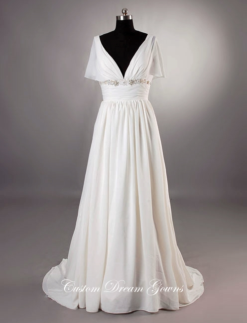 Grecian Wedding Dress.Genevieve