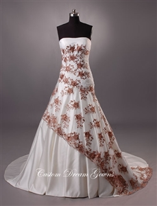 Lucy By Custom Dream Gowns | Custom Wedding Dresses | Victorian Wedding Dresses | Gothic Wedding Dresses | Vintage Wedding Dresses | Lace Wedding Dresses | Fit and Flare Wedding Dresses | A-Line Wedding Dresses | Colorful Wedding Dresses | Strapless