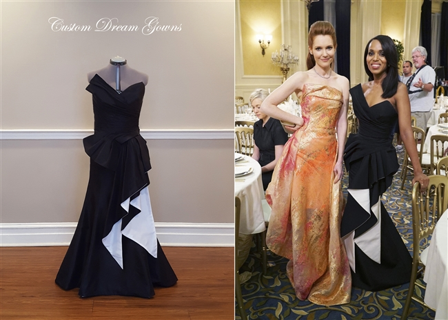 Kerry Washington Olivia Pope Scandal Dress By Rubin Singer Custom Dream Gowns Special Occasion Gown Evening Dress Red Carpet Dress Custom Kerry Washington Dress Custom Olivia Pope Dress
