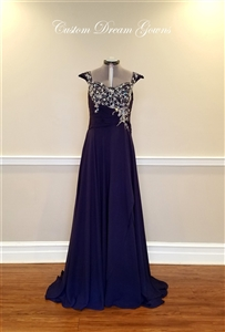 CDG 1019 Evening Dress Mother of the Bride Dress Custom Gown | Custom Dream Gowns