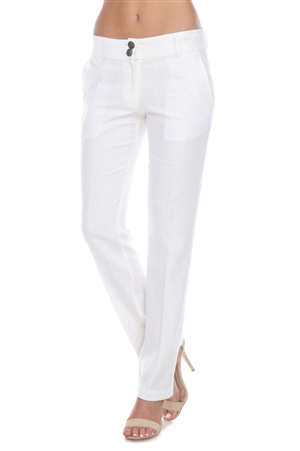 Women's Casual Linen Dress Pants