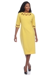 Wholesale Clothing Plus Size Women's Abstract Print 3/4 Sleeve Dress -CC-2604-B