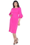Wholesale Clothing Plus Size Women's Ruffled Flared Sleeve Dress -CC-2607-B