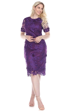 Wholesale Clothing Women's Paisley Design Crochet Lace Dress -CC-2615-A